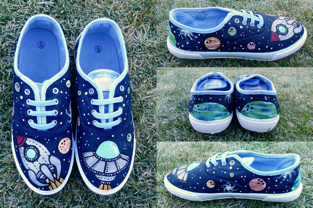 Hand-Painted Rocket Shoes by Tashoes