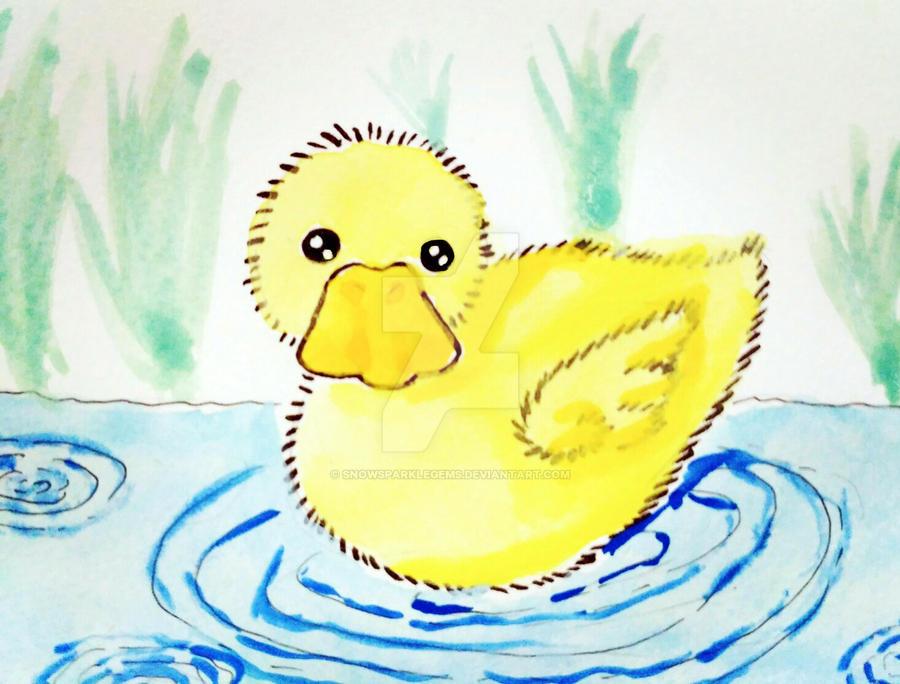 Fluffy Duckling by snowsparklegems