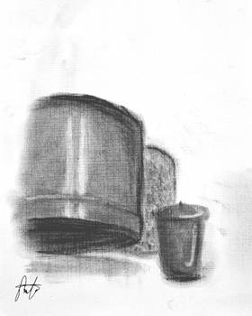 10.18.12 - Bucket, candle, and 'can'