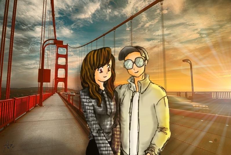 Golden Gate Bridge Postcard by AIRanimechiic