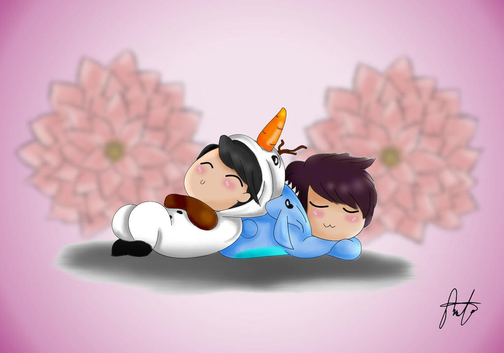 Olaf!Yeol and Stitch!Woohyun by AIRanimechiic
