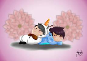 Olaf!Yeol and Stitch!Woohyun