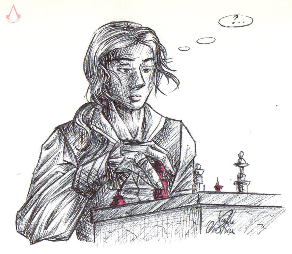 Ezio - Playing Chess by SixthIllusion