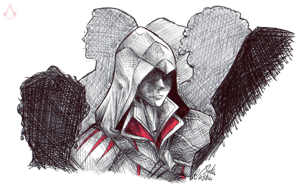 Ezio - in the crowd by SixthIllusion