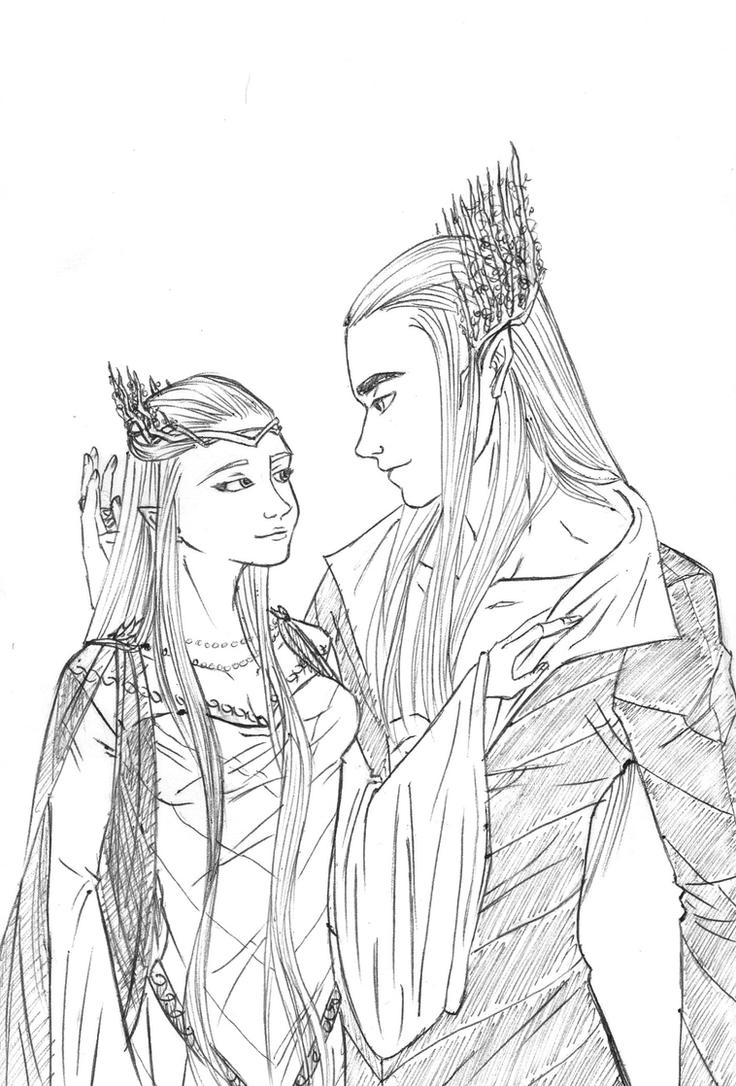 Thranduil and Elvenqueen by SixthIllusion