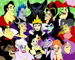 Disney Villains by disneyfreak19