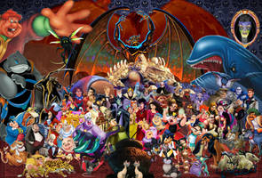 Disney Villains Wallpaper by disneyfreak19