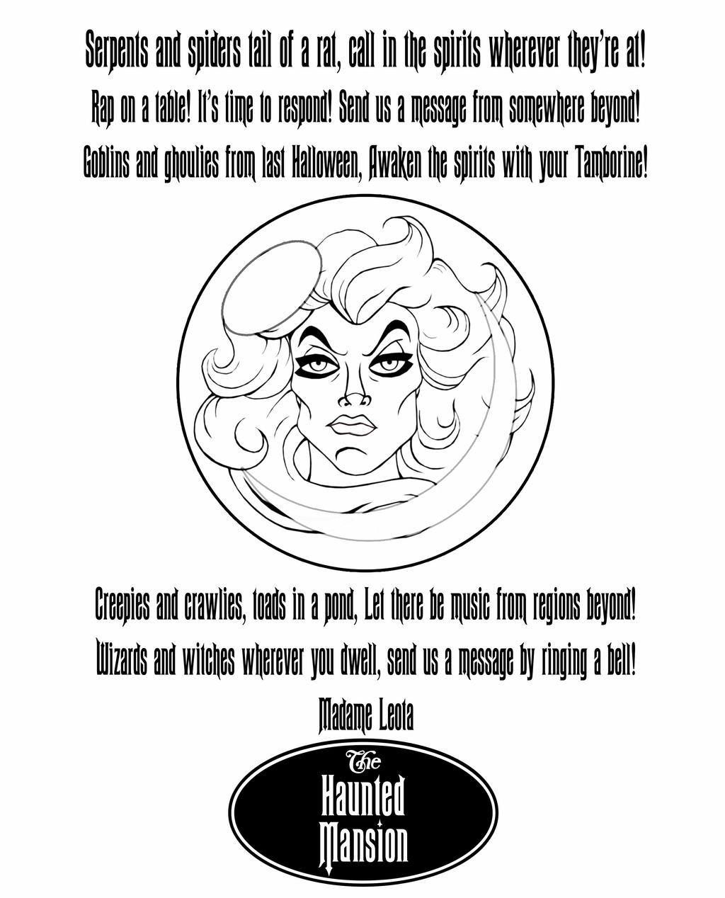 madame leota coloring page by disneyfreak19 on deviantart