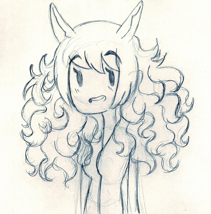 Day 308 - Wild hair, but chibi by Chame