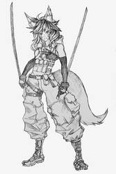 Tactical Ninja Kemonomimi by Chame