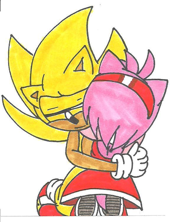 Super Sonic x Amy Huggle by cmara on DeviantArt