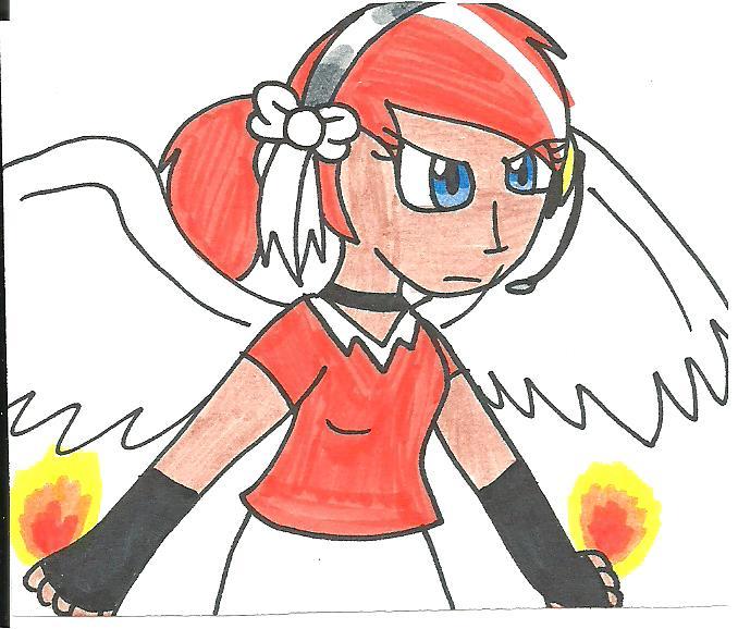 Sally on fire by cmara