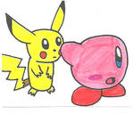 Kirby and Pikachu