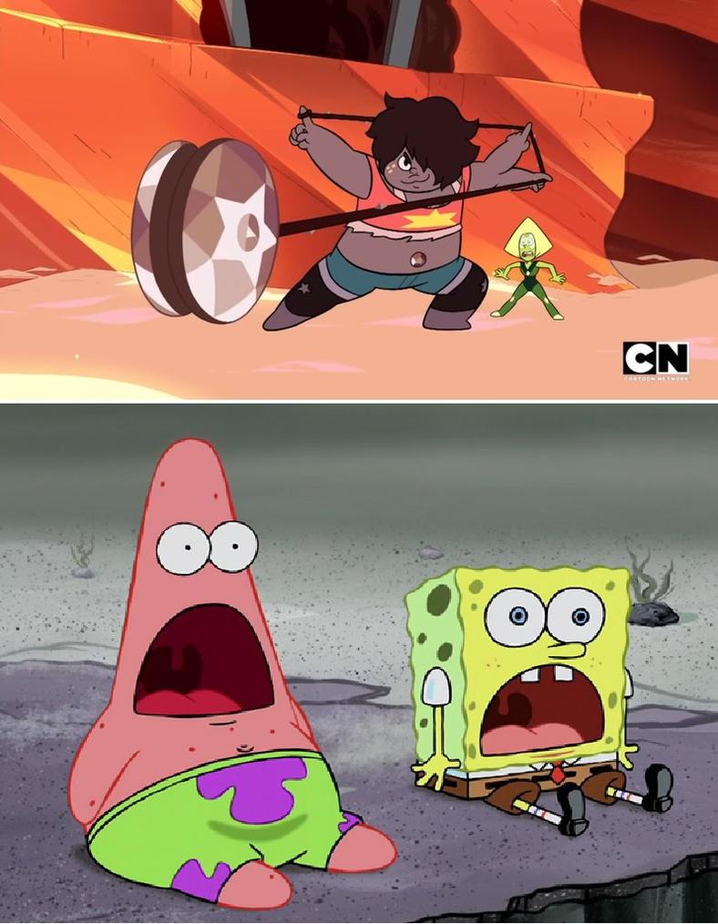 spongebob and patrick reaction to smoky quartz by cmara on deviantart