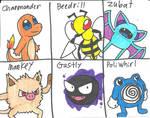 My Pokemon Team from Gen 1
