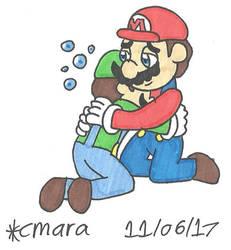 'I missed you, bro!' by cmara