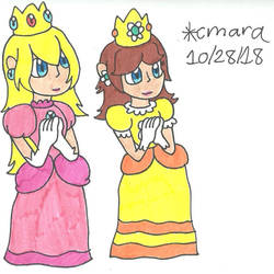 greetings from Peach and Daisy by cmara