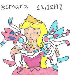 Aurora and her Sylveons by cmara