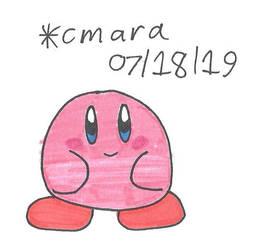 Kirby waiting by cmara