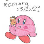 Kirby enjoys a creamsicle
