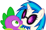 Vinyl shows Spike how to download her music