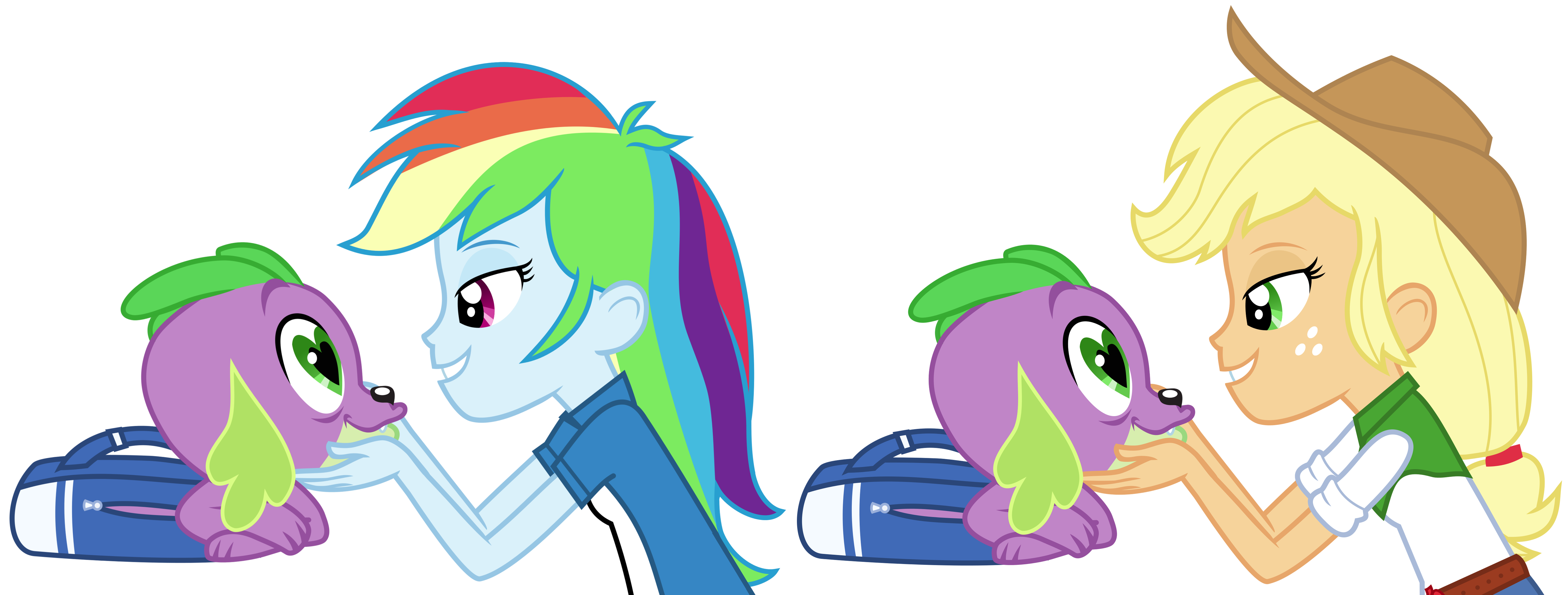 Spike gets ALL the Equestria Girls  part 2 by Titaniumdatsme on