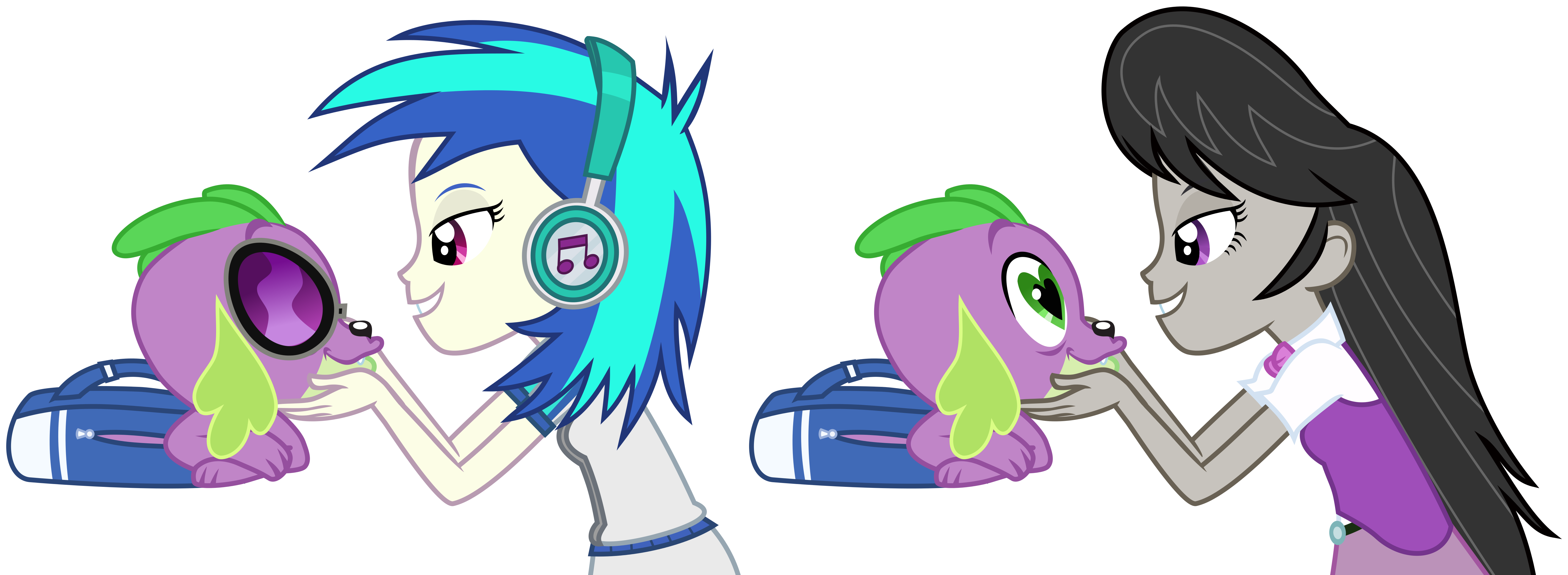 Vinyl Scratch Glasses Vector Spike gets ALL the Equ...