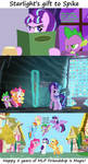 Starlight's gift to Spike by Titanium-dats-me
