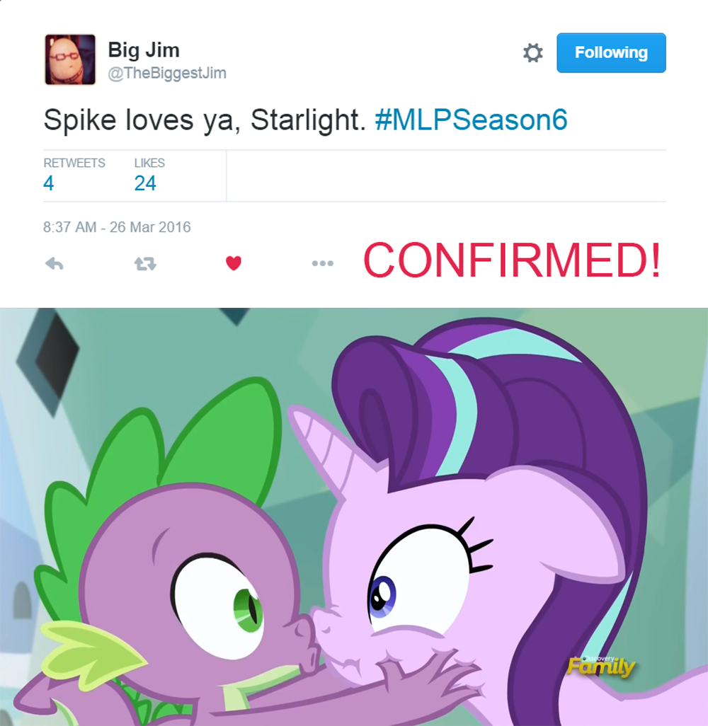 U Hear That Rarity Spike Loves Starlight Now By Titanium Dats Me
