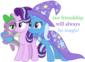 Our Friendship Will Always Be Magic! by Titanium-dats-me