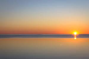 Sunrise over lake by sertion