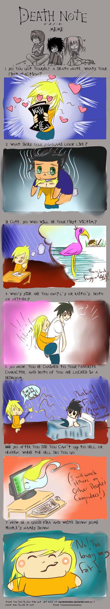Death Note Meme by Phreakobnature