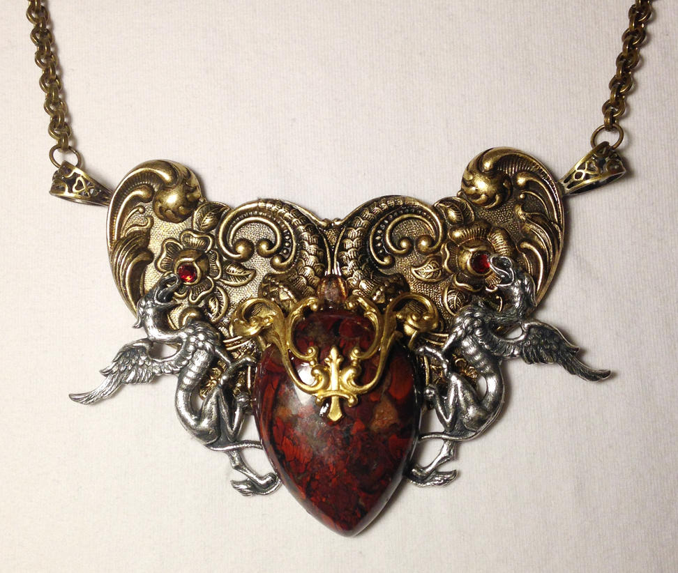 Red hart ooak fantasy bloodstone pendant by kafkavey on deviantart red hart ooak fantasy bloodstone pendant by kafkavey mozeypictures Image collections