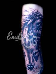 Black and gray by EmiliaTattoo