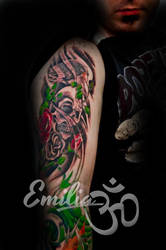 Sleeve by EmiliaTattoo