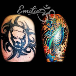 Cover up by EmiliaTattoo