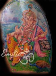 Ganesh by EmiliaTattoo