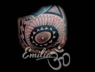 Polynesian style by EmiliaTattoo