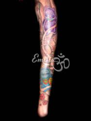 Japanese sleeve by EmiliaTattoo