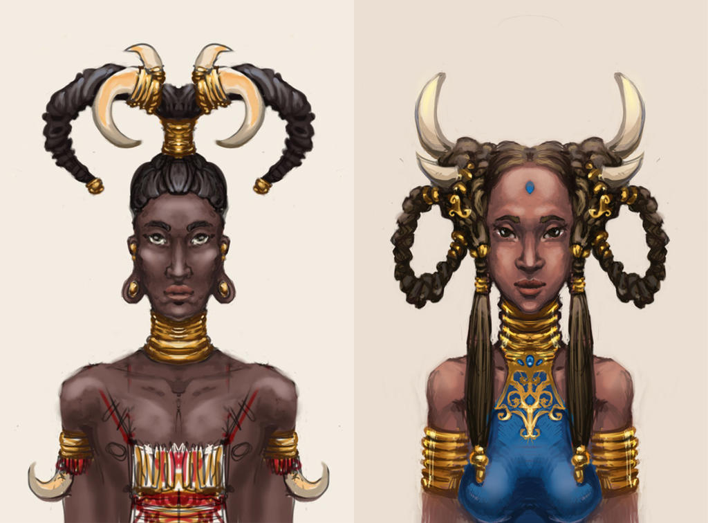 concept art  Africans by Tottor