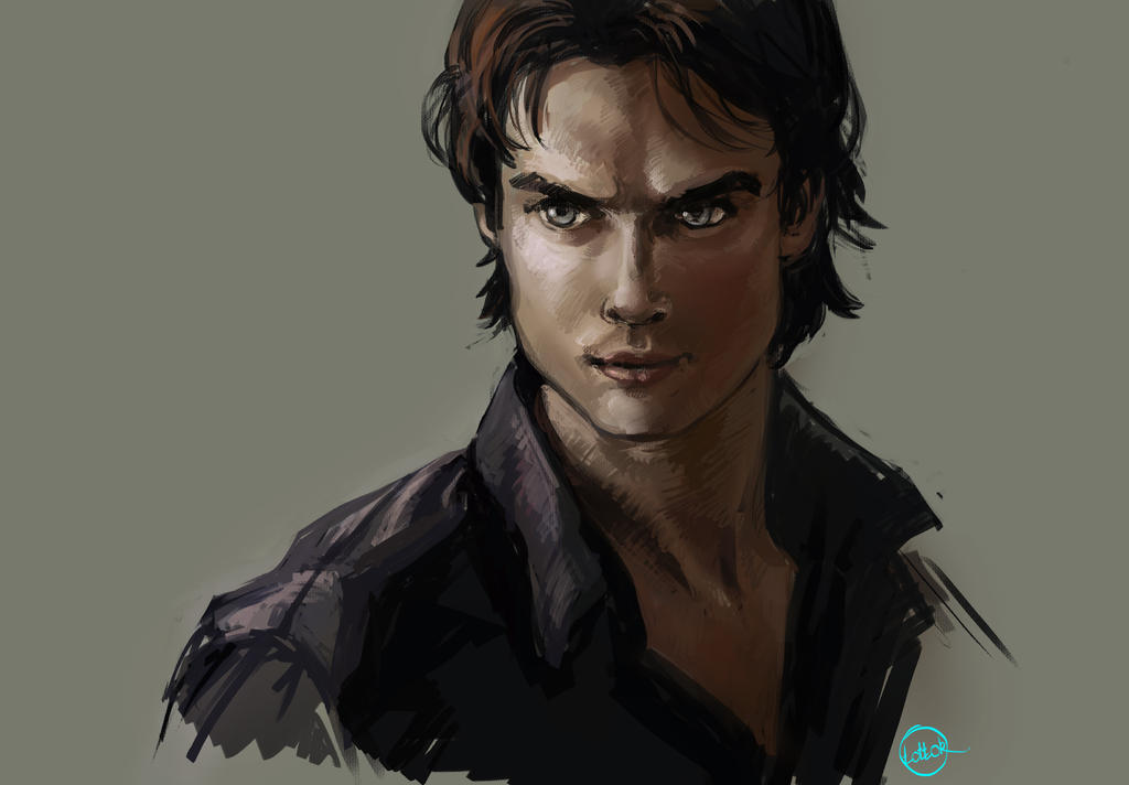 Damon Salvatore by Tottor
