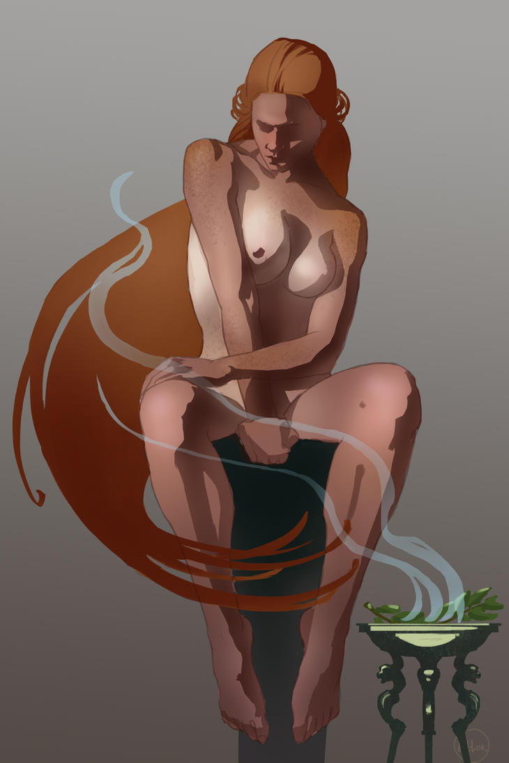 Red-haired Pythia by Tottor