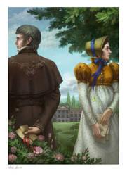 Illustration to Pride and Prejudice. Jane Austen