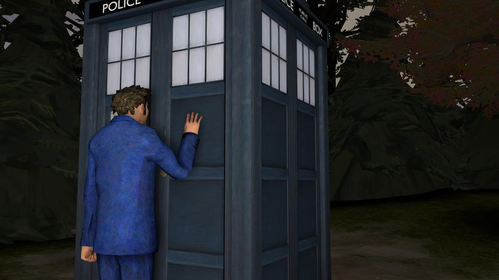 10th Doctor Tardis The doctor and the tardis