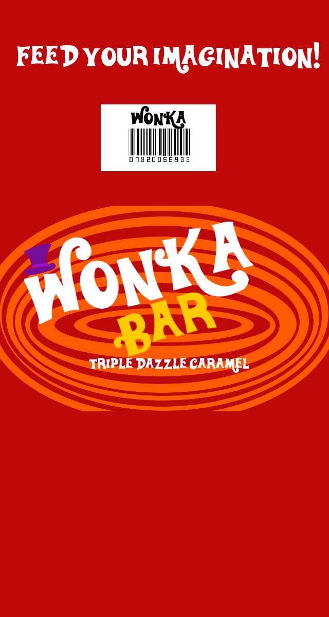 Wonka Tripple Dazzle Caramel Bar wrapper by TheCrimsonLoomis