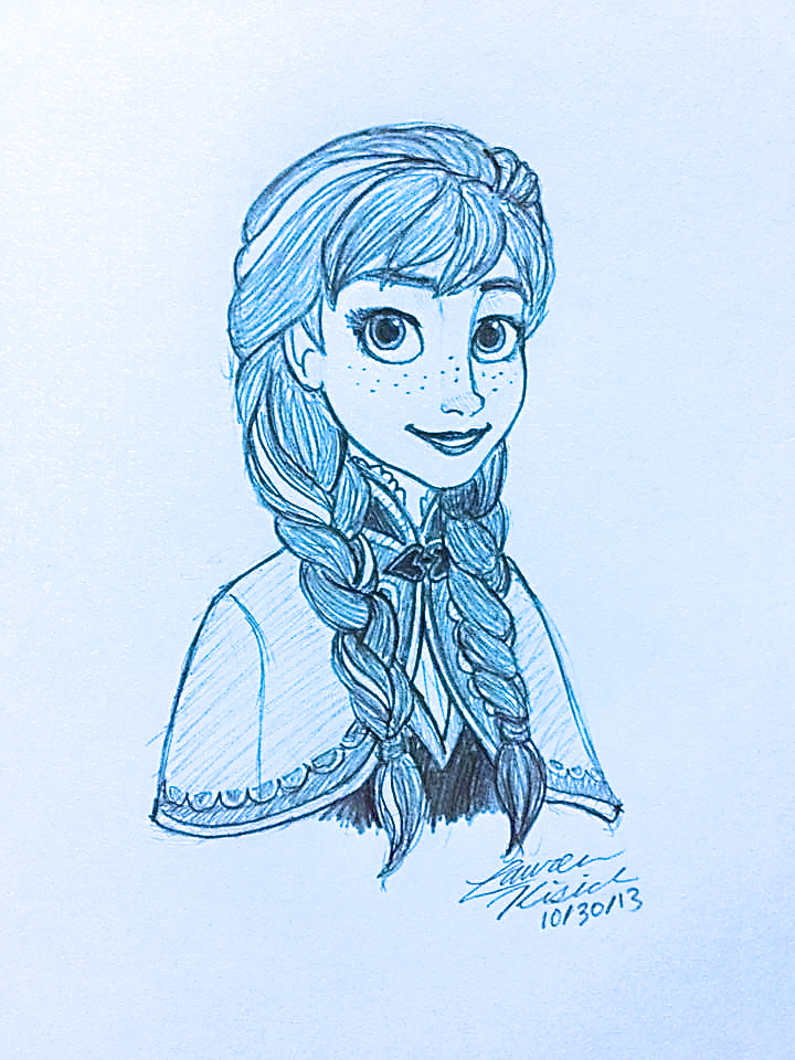 Frozen Anna Drawing Disney's frozen - anna by