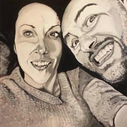 Couple portrait, commissioned