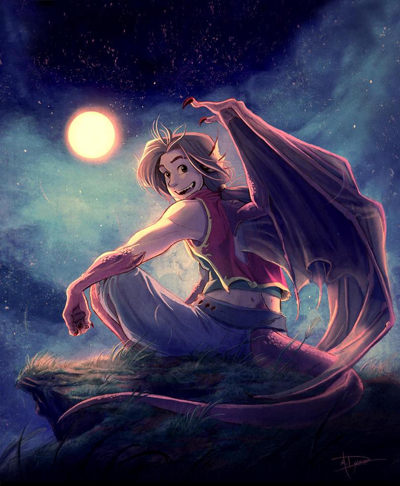 Moonwarmth glow by pupukachoo on deviantart - Anime boy dragon ...