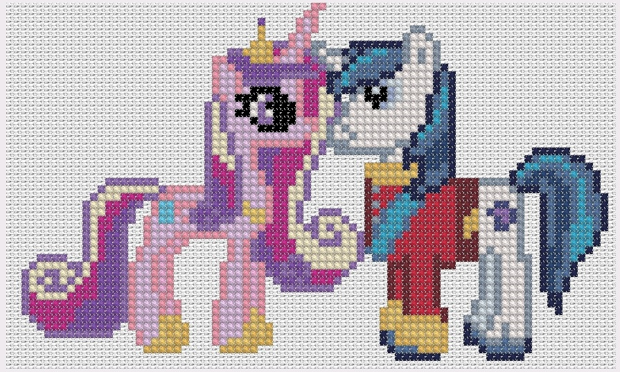 Princess Cadence and Shining Armor by Stinnen