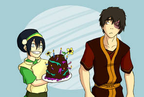 Cake - Beifong Week by LimeGreenBunny